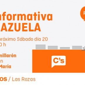 Mesa informativa en La Marazuela