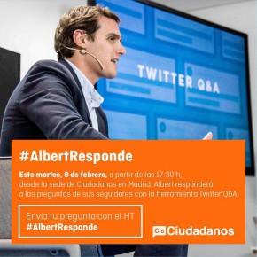 Hoy martes #AlbertResponde en Twitter