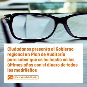 Ciudadanos presenta al Gobierno regional un plan de Auditoria